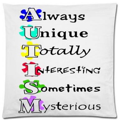 Autism Quotes | Funny Autism Awareness Puzzle Pieces Quotes Luxury Print Square