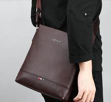 2017 Brand Leather Men Shoulder Bag Casual Business Satchel Mens Messenger Bag Vintage Men's Crossbody Bag male 26*23*6CM