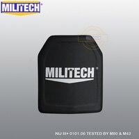 MILITECH 10x12 cali NIJ III + samodzielny Panel balistyczny PE NIJ poziom 3 Plus oceniane ciało płyta pancerza AK47 kuloodporna płyta w Artykuły do samoobrony od Bezpieczeństwo i ochrona na