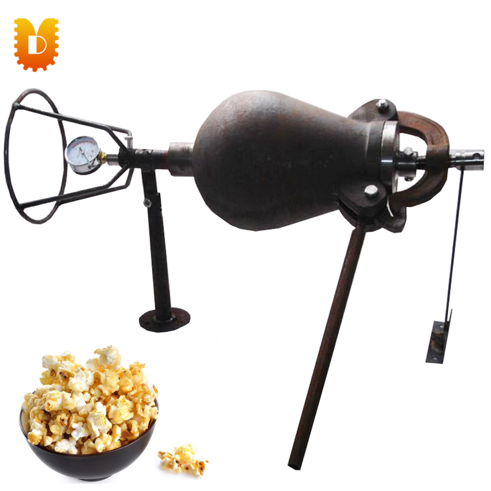 2.5kg/time Hand Popcorn Machine Rice Puffed Maize-Popping Machine Old Popcorn Maker rollercoasters the time machine