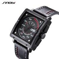 SINOBI Wrist Watch Top Brand Luxury Men S Watch Men Watch Auto Date Week Waterproof Sport