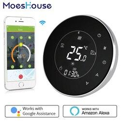 BHT-6000-GBLW LCD Touch Screen Elektrische Fußbodenheizung Thermostat Hintergrundbeleuchtung WIFI 16A Arbeitet mit Alexa Google Hause