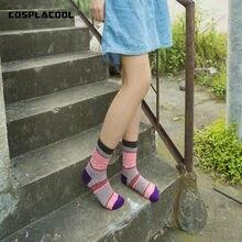 Novo criativo padrão reto engraçado sokken quente algodão casal meias para as mulheres harajuku japão mieas