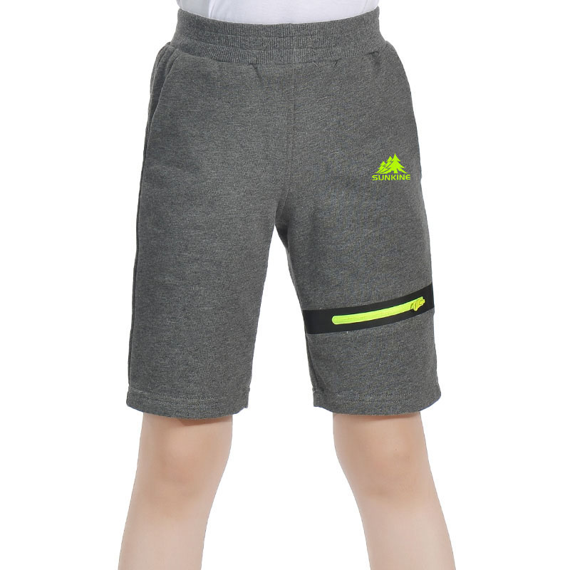 Summer Children Cotton Leisure Outdoor Sport Camping Running Hiking Shorts Boys Girls Breathable Solid Elastic Short Trousers