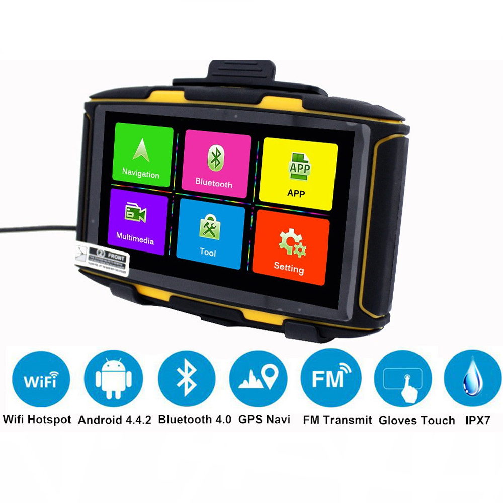 5 inch Android Motorcycle GPS Waterproof DDR1GB MT-5001 Karadar with WiFi, Google  Play