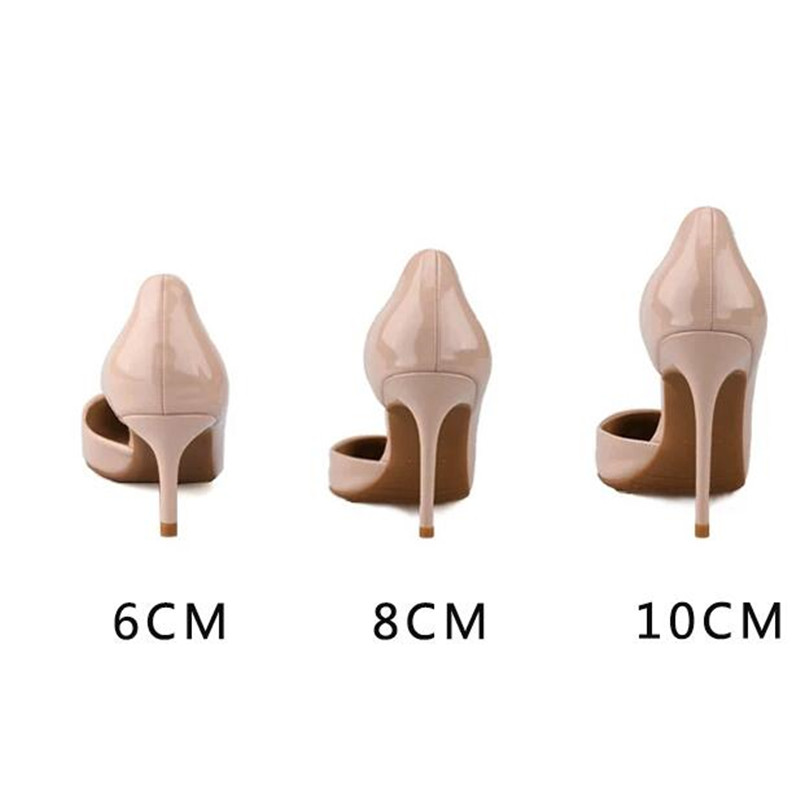 Sexy Pointed Toe Cross Strappy Thin heels Pumps Women Shoes Heels Women Stiletto Patent Leather Party Dress High Heel Shoe 2019 in Women 39 s Pumps from Shoes