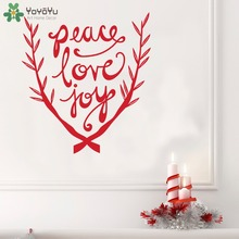 Branches Pattern Wall Decal Quotes Peace Love Joy Vinyl Wall Stickers For  Kids Rooms Holiday Home