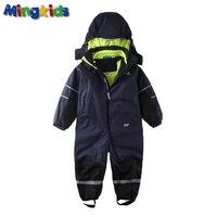 Mingkids Snowsuit Overall Boy Rompers Ski Jumpsuit Outdoor Snow Suit Waterproof Windproof With Fleece Lining Export
