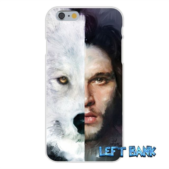 Game Of Thrones White Wolf Soft Silica Gel Phone Case