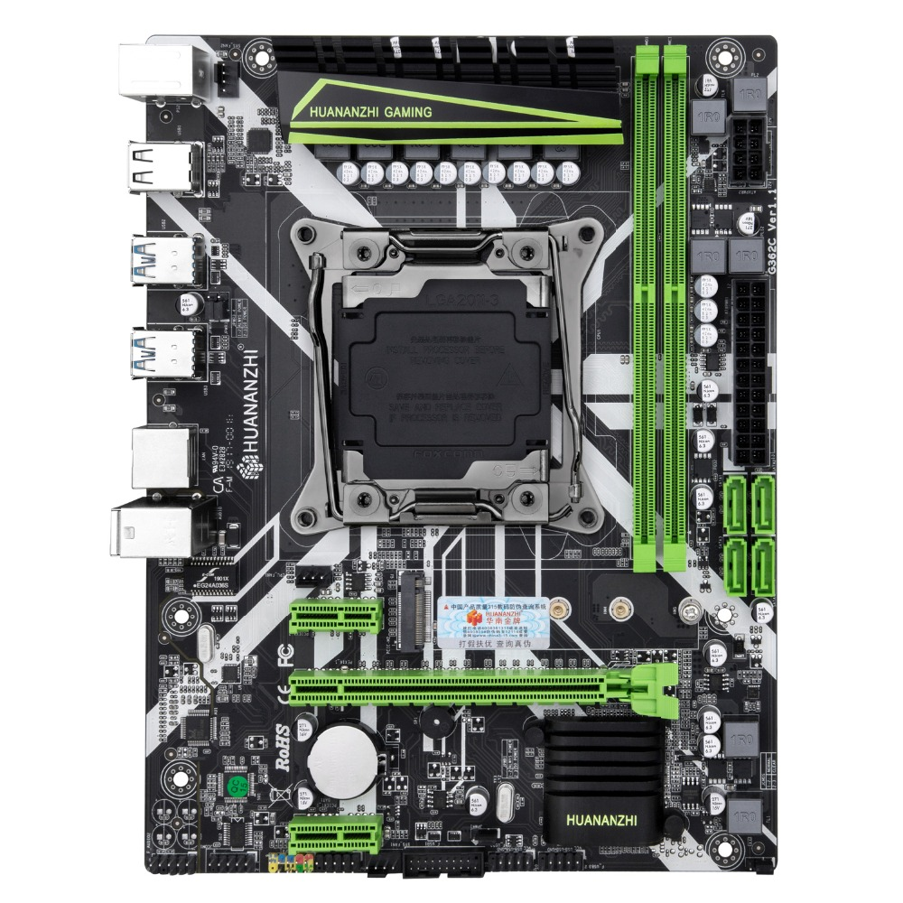 HUANANZHI M ATX X99 motherboard for all LGA2011-3 processors such as 2680 V4/V3 M.2 NVMe slot 2*DDR4 4*USB3.0 4*SATA3.0 ports 2
