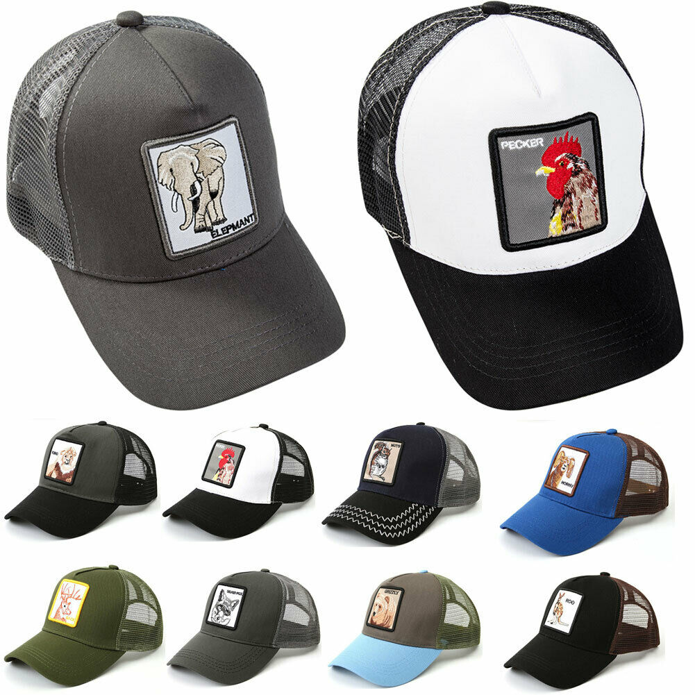New Pattern Men's Women Goorin Bros Animal Farm Trucker Eye Of The Tiger   Cap   Hat Woodpecker lion Adjustable   Baseball     Cap