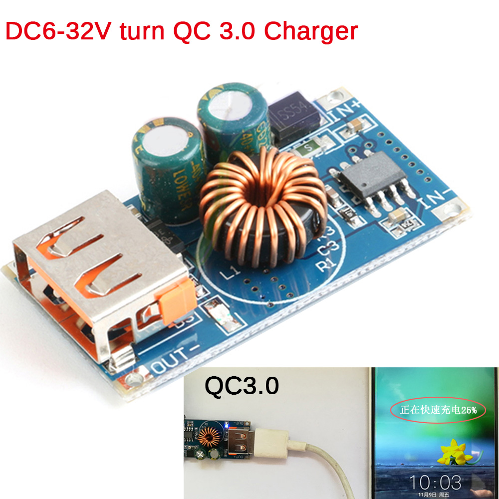 Cnikesin Diy Computer Power Amplifier Fan Temperature Control Panel Board 8x12cm Single Plate Spray Tin Universal Circuit Usb Dc Step Down Module 12v24v To Qc30 Fast Charge Mobile Phone Charging
