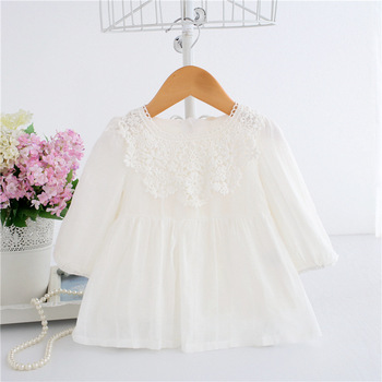 Wholesale 5pcs/lot Baby Dresses Spring Newborn Flowers Embroidery Baby Girls Clothes Cute Lace Princess Birthday Party Dress