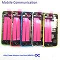 5c Задняя Крышка Батареи Полный Жилищно Для Iphone 5C Задняя Задняя Дверь Со шлейфом Замена Мелких деталей