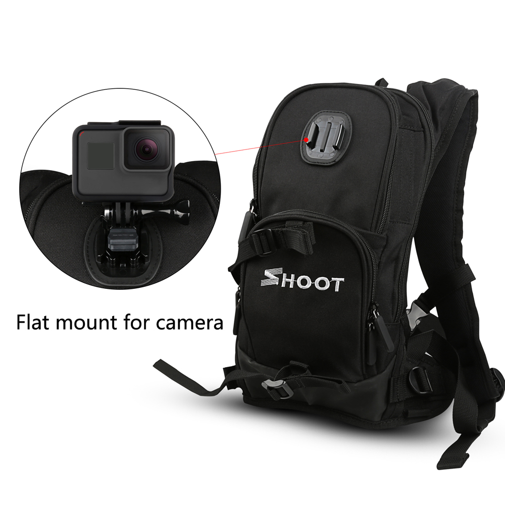 Image 2 - SHOOT Motorcycle Bicycle Selfie Backpack Men Camera Backpack Travel Bag Multifunctional Waterproof Backpack Cam Bag for GoPro 7-in Camera/Video Bags from Consumer Electronics