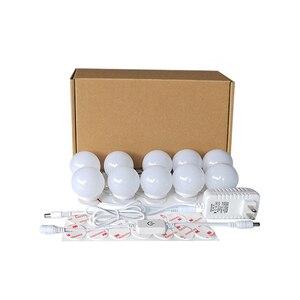 Image 5 - 10Pcs Makeup Mirror Vanity LED Light Bulbs lamp Kit 3 Levels Brightness Adjustable Lighted Make up Mirrors Cosmetic lights