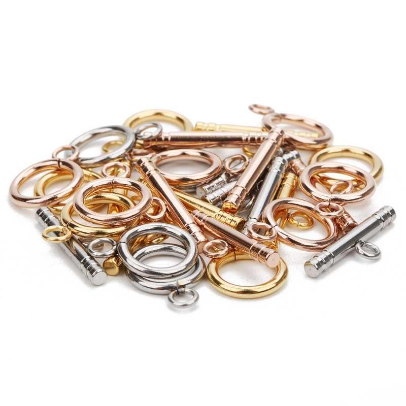 4 set/lote 3 estilo de alta qualidade em aço inoxidável ot fechos conectores para diy pulseira colar jóias descobertas fazendo acessórios
