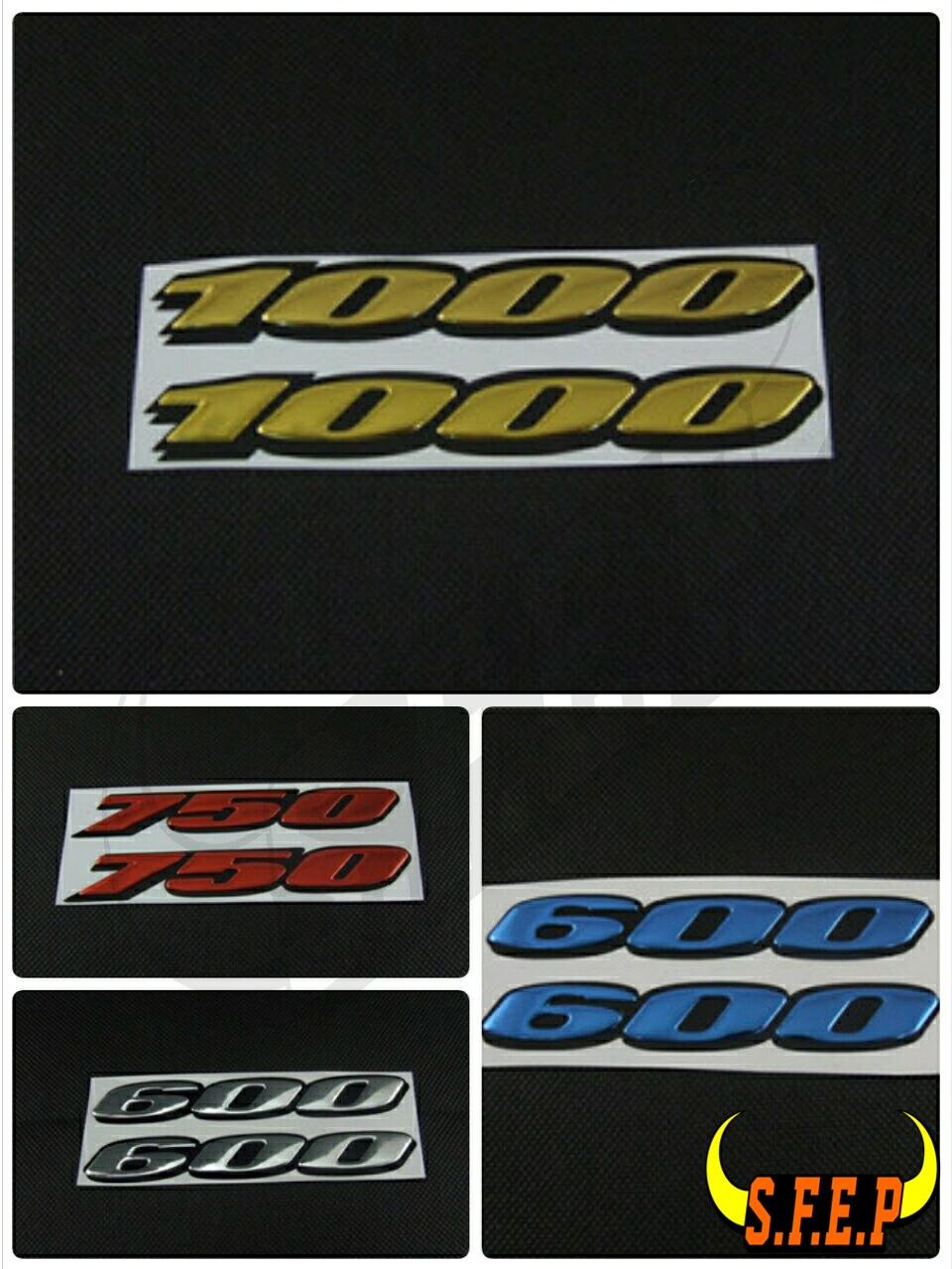 Motorcycle Stickers 3D Digital Case For Suzuki GSXR600 GSXR750 GSXR1000 600 750 1000 Logo Badge