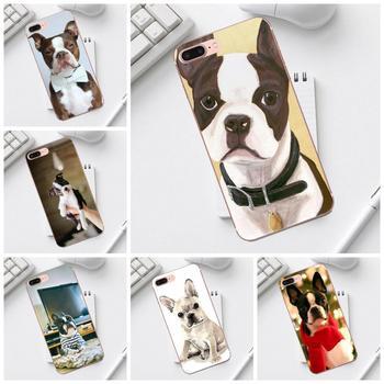 Qdowpz-funda de teléfono móvil con diseño de perro Boston Terrier, accesorio para...