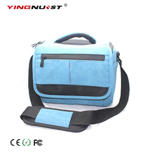 Wholesale prices 2017 Professional Canvas DSLR Travel Camera Bags Shoulder Messenger Bag For Canon EOS Nikon Sony Olympus Soft Digital Photo Case