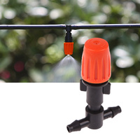 Garden Mist Cooling System 10 Orange Sprayers Nozzles 10m Micro Sprayer Water Spray Mist Nozzle High