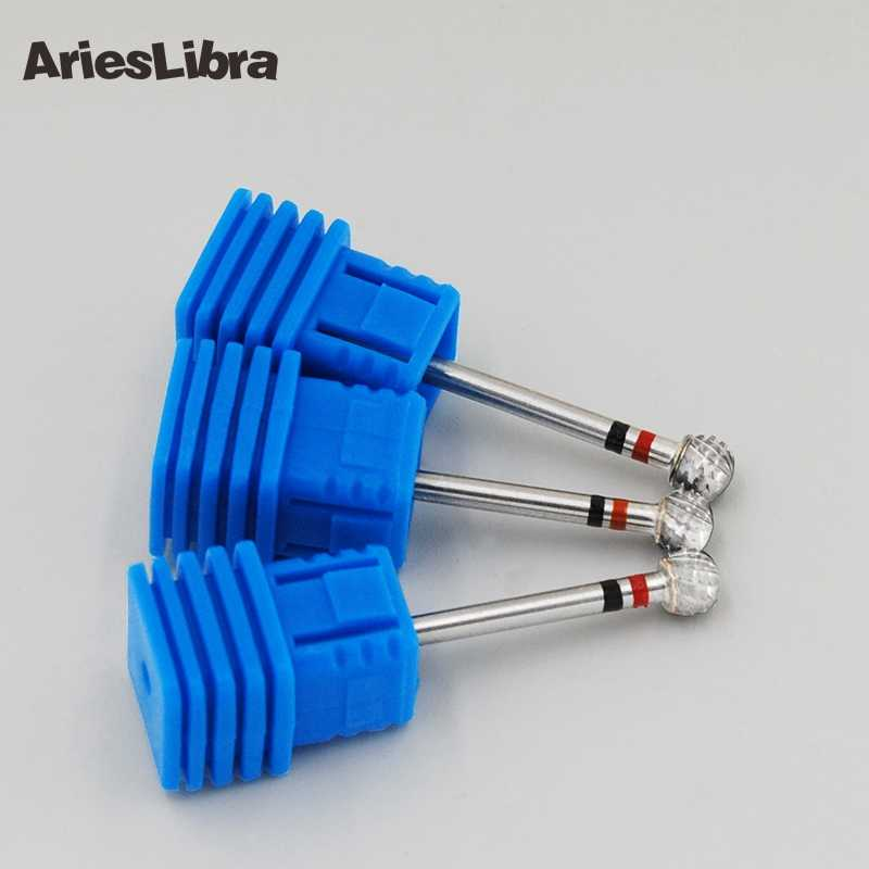 1Pcsทรงกลมหัวเล็บArtเจาะบิต (Big Ball) sliverเล็บArt Toolสำหรับเครื่องเจาะเล็บไฟฟ้า