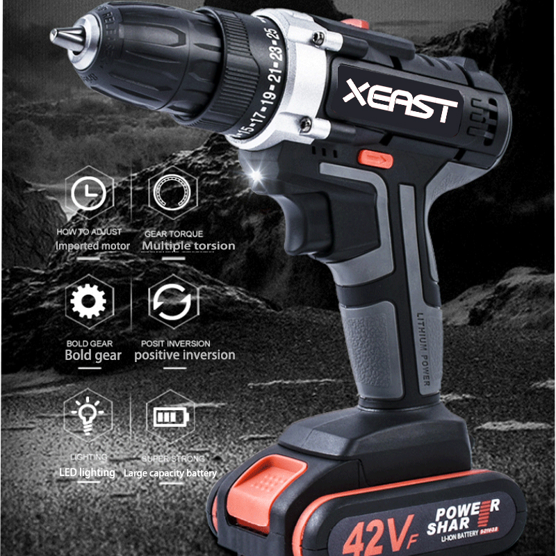 Cordless high power electric drill electric screwdriver super durable multifunctional electric toolCordless high power electric drill electric screwdriver super durable multifunctional electric tool