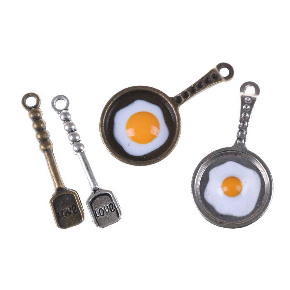 Ztoyl Poppenhuis Miniatuur Pan Gebakken Eieren Pot Keuken Set Voedsel Speelgoed Accessoires Poppen Fantasiespel Speelgoed Xmas Gifts