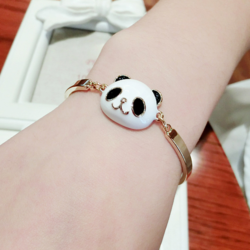 Hot Fashion Sweet Cute Panda Bracelet Bangle And Earrings Sets For Children S Jewelry In Cuff Bracelets From Accessories On