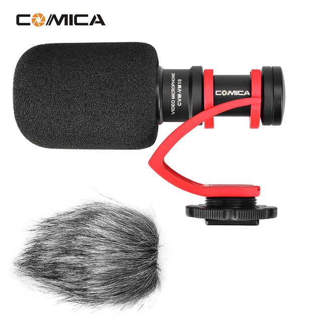 Comica CVM-VM10 II On Camera Record Microphone Video DSLR Mic for Canon Nikon Pentax DJI Osmo mobile 2 w Hot Shoe Mount comica cvm vm10 ii microphone for dji osmo mobile plus smartphone gopro micro camera cardioid directional shotgun microphone
