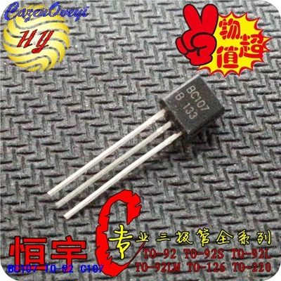 10pcs/lot BC107 C107 TO-92 New Original In Stock