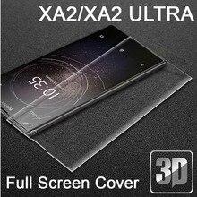 9H 3D Kính Cường Lực Màn Hình LCD Cong Full Màn Hình Bảo Vệ Bộ Phim Dành Cho Sony Xperia XA2 XA2 Cực H3113 H4213 màng Bảo Vệ
