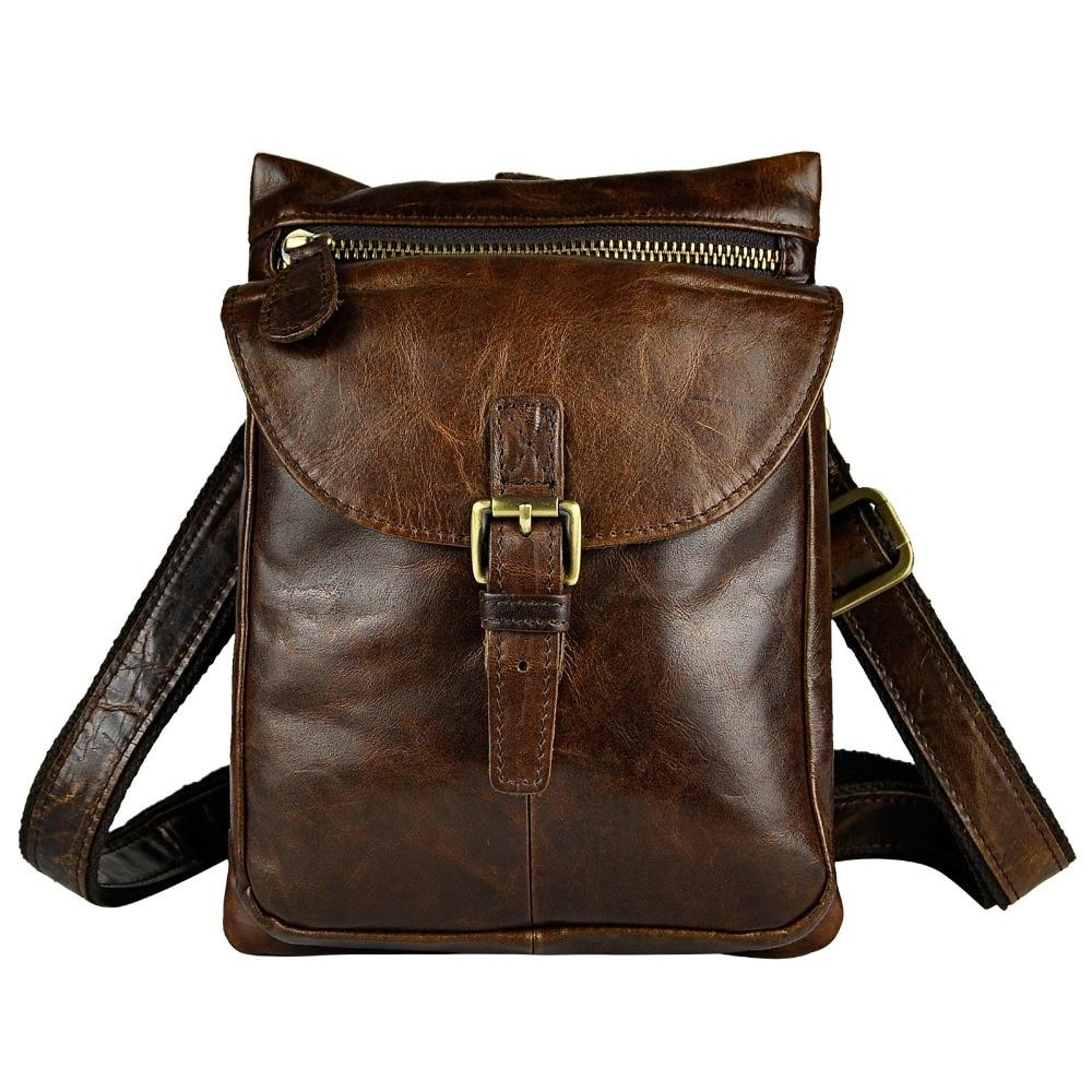 Quality Original Leather Mens Multifunction Fashion Casual Messenger Shoulder Mochila Bag Design Belt Waist Pack Bag 6552-c