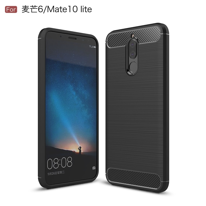 For Huawei Head 6 / Mate 10 Lite 5.9 Case Slim Rugged Hybrid Armor Shockproof Soft Rubber Silicone Phone Cases Cover Mate10Lite