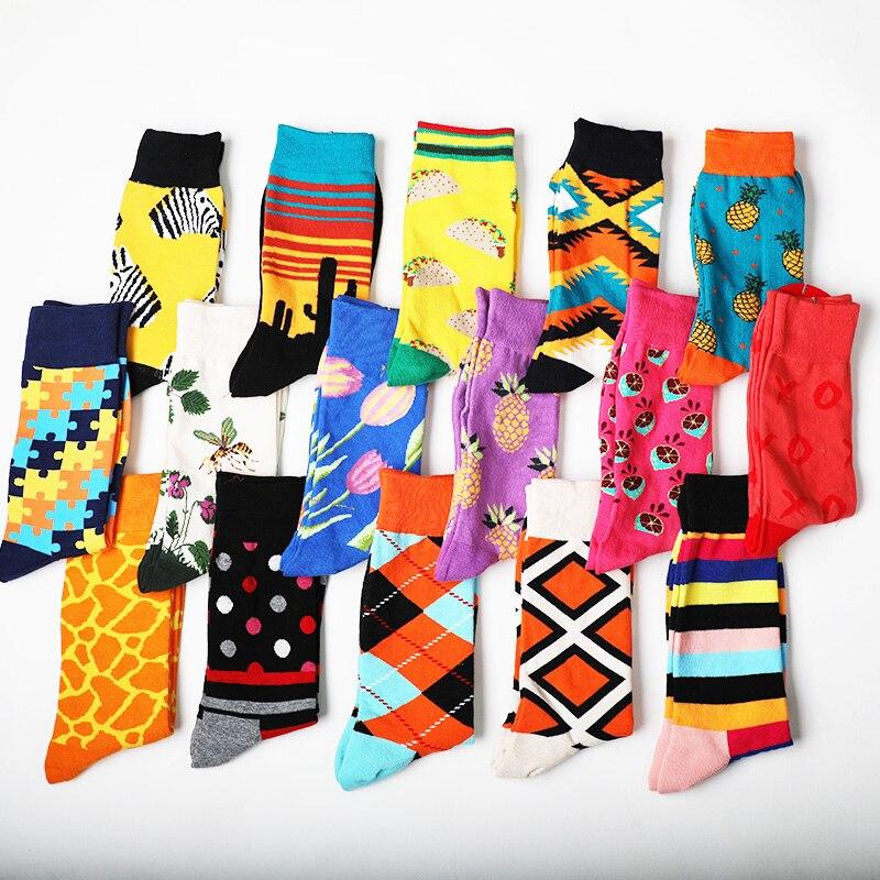 Fashions Hip Hop Cotton Men Ankle Crew   Socks   Pizza Hamburger Cactus Pattern Happy Art   Socks   Funny Harajuku Novelty Kanye West