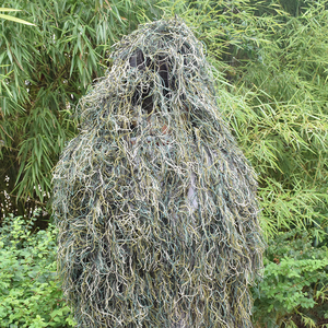 Image 2 - Ghillie Suit Desert Durable Breathable Mesh Lining Hunting Camouflage Sniper Suit Scouting Woodland Sniper Set Kits