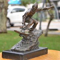 The bronze statue art crafts ornaments ornaments surf club Home Furnishing jewelry gift decoration feng shui ornaments