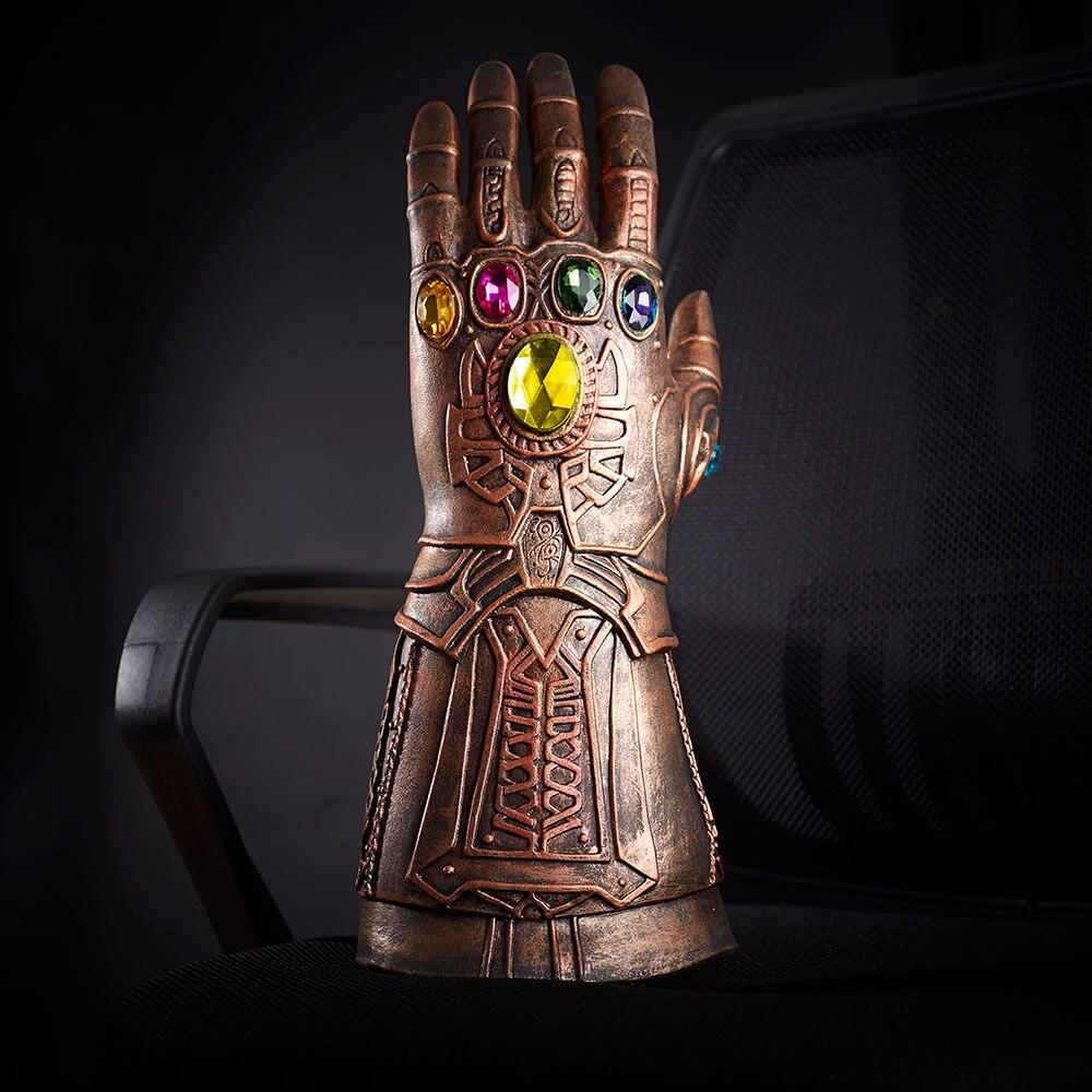 1 pz New Avengers 3 Infinity Guerra Thanos Cosplay Armatura Guanti di Lattice Mano Guanto di Sfida Mobile Dita Halloween Cosplay Oggetti di Scena a Portata vendita