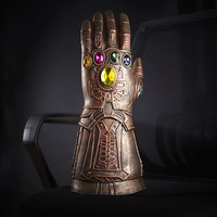 1pcs New Avengers 3 Infinity War Thanos Cosplay Gloves Armor Latex Hand Gauntlet Movable Fingers Halloween Cosplay Props On Sale
