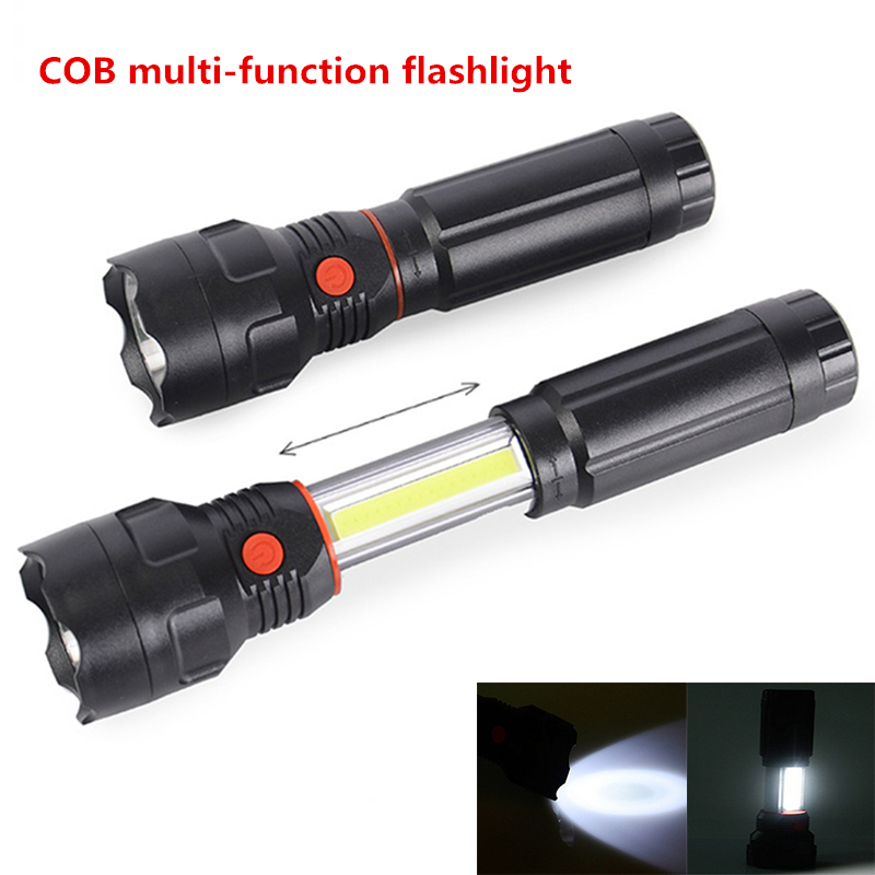 10PCS  Multi-function flashlight Aluminum alloy COB 3W Light working light Tail magnet Telescopic flashlight multi function aluminum alloy pull back car toy model black 3 x lr1130