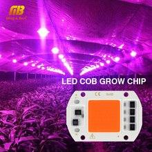 Фитолампа полного спектра с COB чипом для выращивания растений, 20 Вт, 30 Вт, 50 Вт, 220 В переменного тока