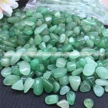 50g 7-9mm Natural Dong ling Jade Gravel Crystal Stone Rock Healing Gemstone Green Aventurine for Fish Tank Home Decor