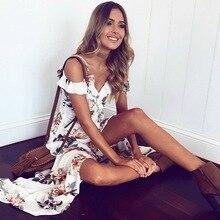 Off shoulder floral print long dress