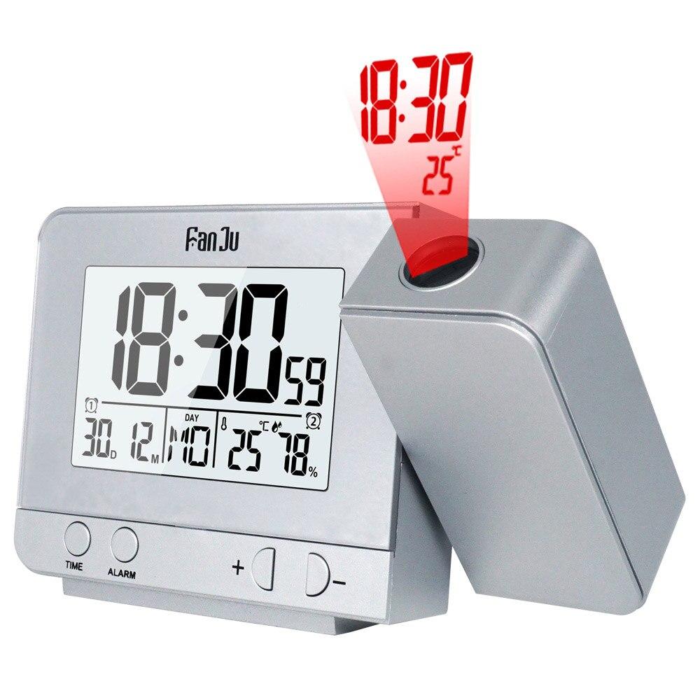 Numérique Horloge De Projection Alarme Horloge Numérique Date Snooze Fonction Rétro-Éclairage Projecteur Bureau Table LED Horloge Avec Projection De L'heure