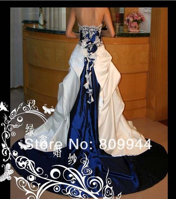 B66 kind luxury European and American senior long tail wedding dress ...
