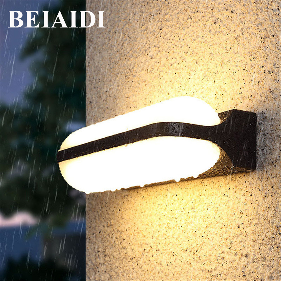 BEIAIDI Outdoor Led Wall Lamp 24W Up Down Wall Sconce Corridor Porch Light Waterproof Building Exterior Gate Balcony Garden LampBEIAIDI Outdoor Led Wall Lamp 24W Up Down Wall Sconce Corridor Porch Light Waterproof Building Exterior Gate Balcony Garden Lamp