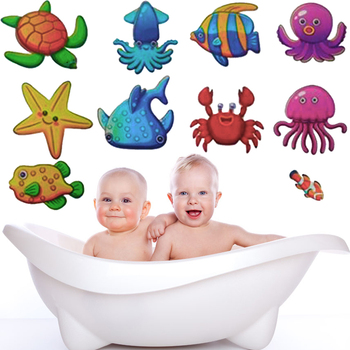 10pcs Nonskid Bath Tub Stickers for kids Ocean Fish Tortoise Crab Cute Cartoon Stickers Removable PVC Shower Safety Stickers  3 in 1 corner rounder