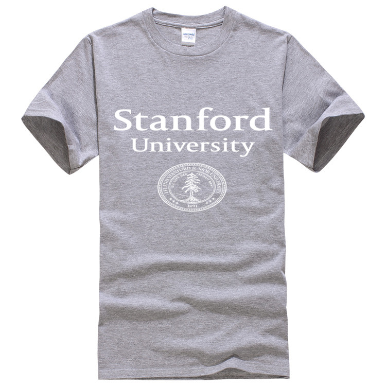 4f69531d5 US $13.34 |Top Quality shirts Stanford University Badge Mens t shirts men  short sleeves for male plus size Free shipping-in T-Shirts from Men's ...