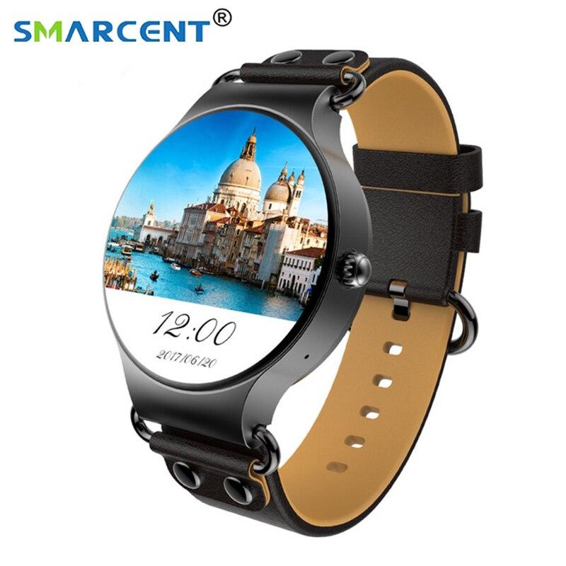 KW98 montre intelligente 3G WIFI GPS montre Android 5.1 Smartwatch pour iOS Android PK hommes vie étanche téléphone intelligent bande