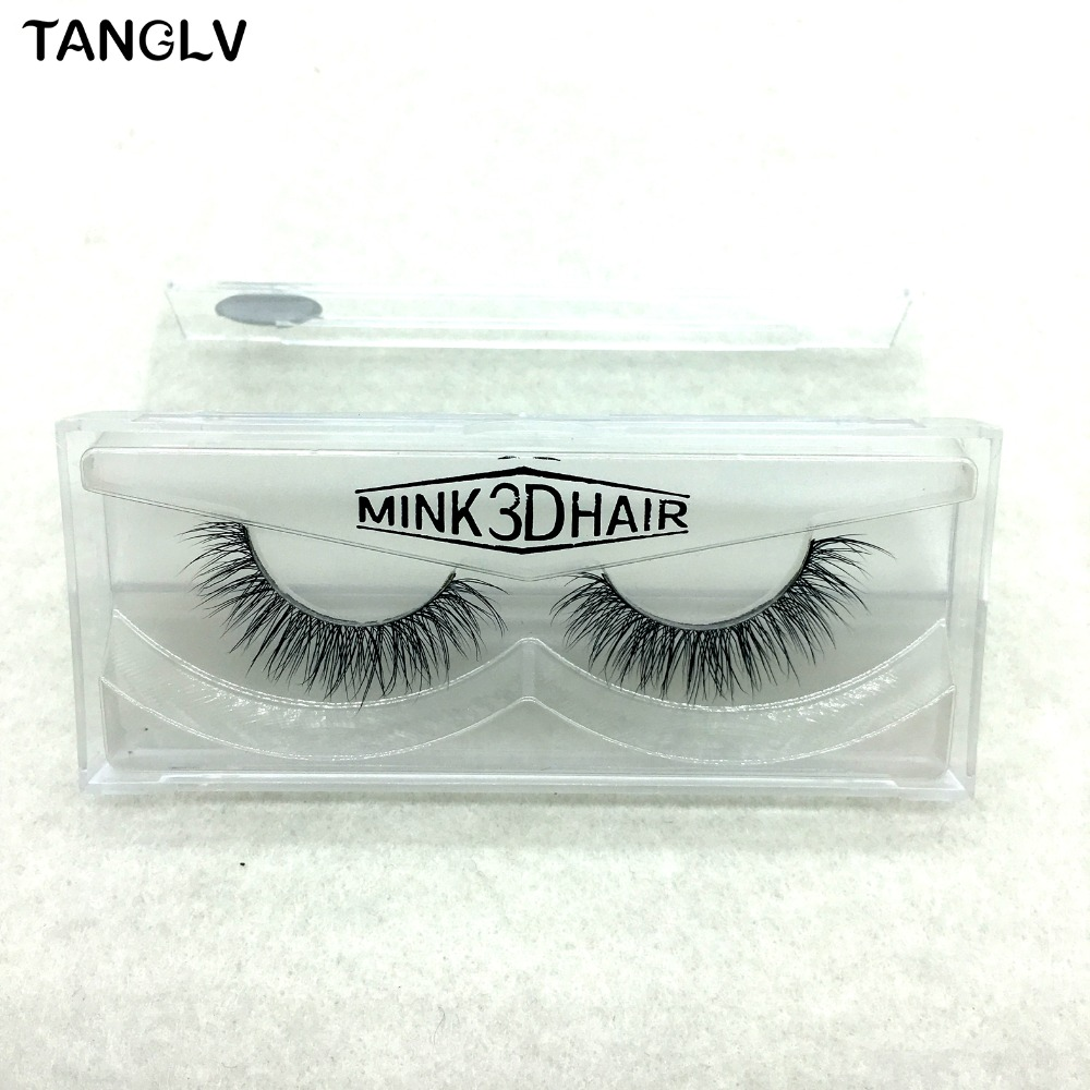 1 Pairs Black 3D Real Mink Lashes False Eyelashes Makeup Thick Fake Eye Extention 100% Handmade Glitter Packing
